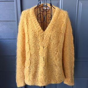VTG 60s Marshall Field Italian Wool Mohair Sweater